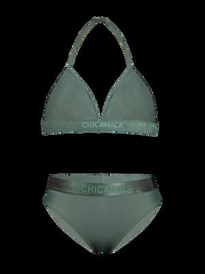 Meisjes 1-pack triangle bikini effen