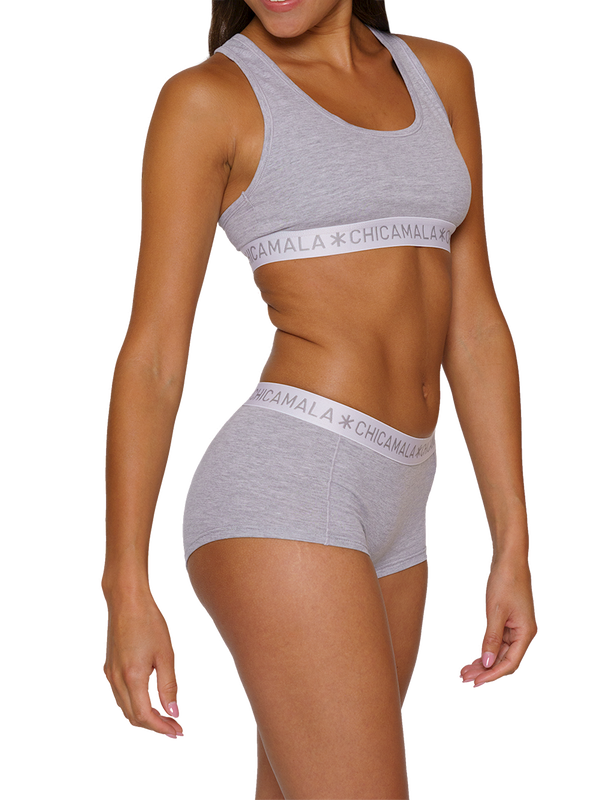 Women 2-pack Boxershort Solid 3
