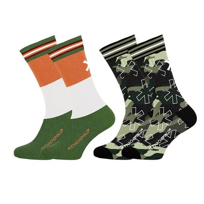 Men 2-pack socks Army