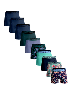 Heren 10-pack boxershorts Japan + Turtle + effen