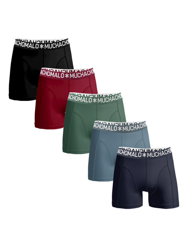Men 5-pack light cotton solid