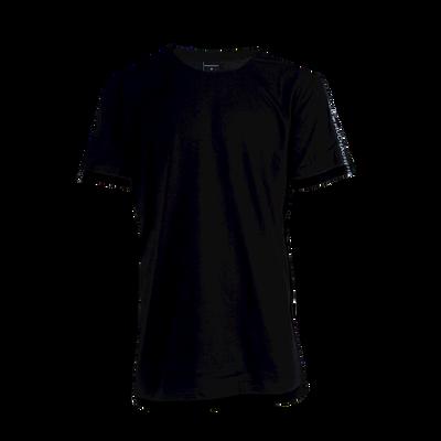 Heren 1-pack Loose Fit Tape T-shirt zwart
