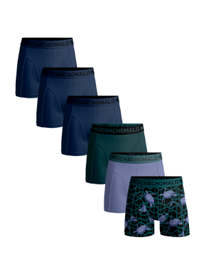 Men 6-pack boxer shorts Turtle + solid