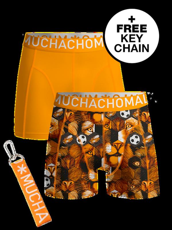 Boys 2-pack shorts Football incl keychain
