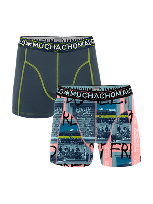 Heren 2-pack Boxershorts Berlin Wall