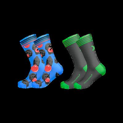 Men 2-pack socks print