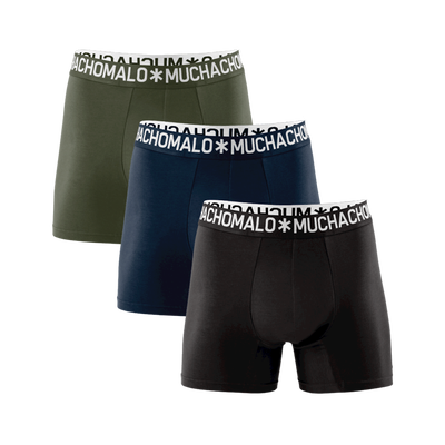 Herren 3-Pack Boxershorts Light Cotton Solid