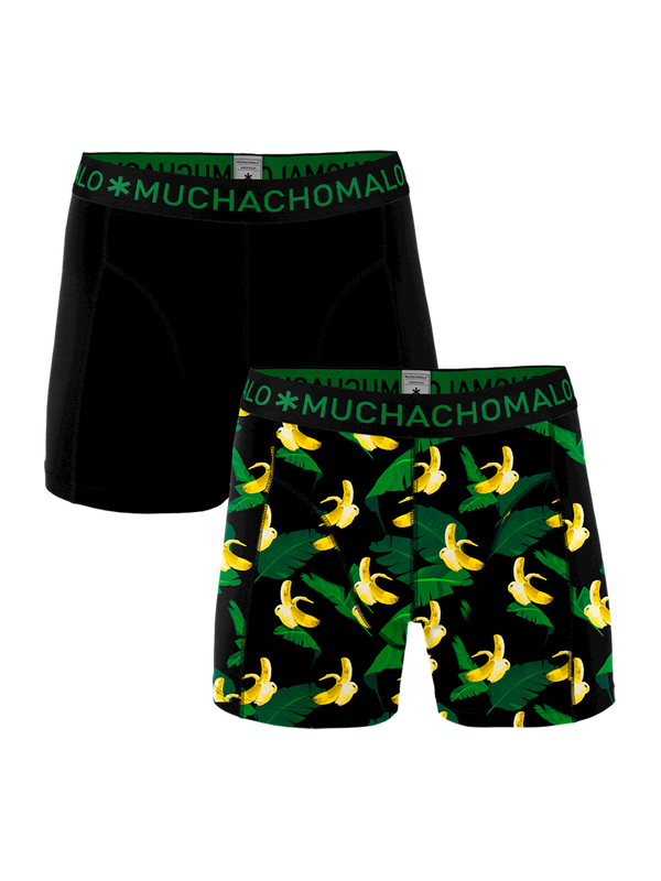Men 2-Pack short print/solid 1