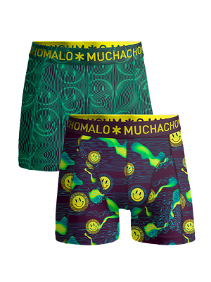 Jongens 2-pack boxershorts Acid House
