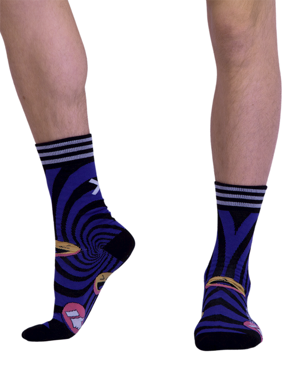 Men 1-pack socks Pattern SOCME 2