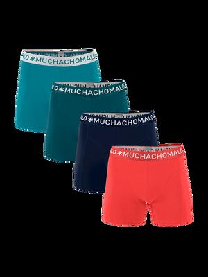 Heren 4-pack boxershorts effen