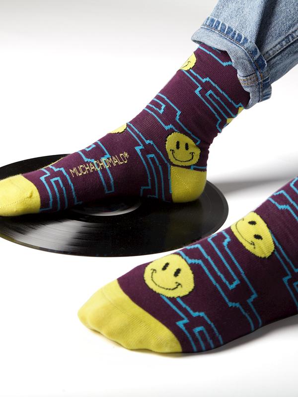 Men 1-pack socks Pattern ACIDH 4