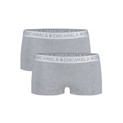Women 2-pack boxer shorts solid