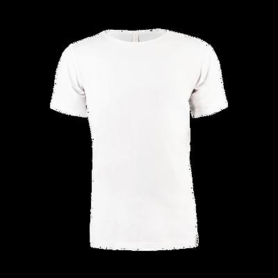 Heren Cotton T-Shirt Round Neck wit