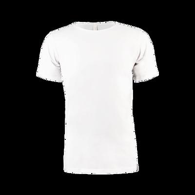 Men Cotton T-Shirt Round Neck white