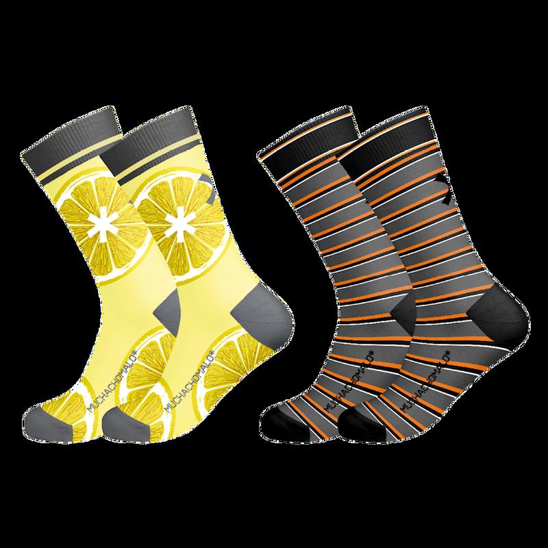 2-pack socks lemons 1
