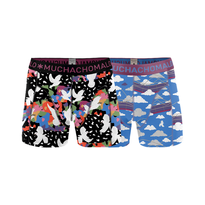 MEN 2-PACK SHORT PRINT DOVESX 1