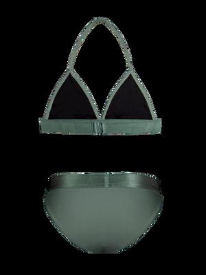 Girls triangle bikini solid 2