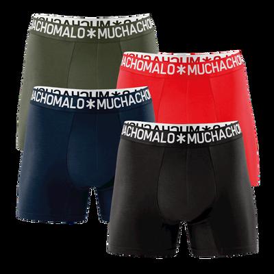 Heren 4-pack Boxershorts Cotton Effen