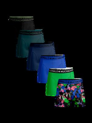 Heren 6-pack boxershorts Koi + effen