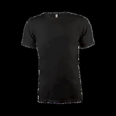 Heren Cotton T-Shirt Round Neck zwart