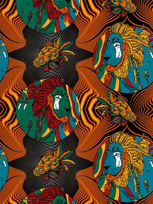 Men 1-pack long john Rastafarian 2