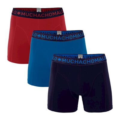 Heren 3-pack Boxershorts Effen