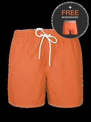 Jongens 1-pack swimshort effen