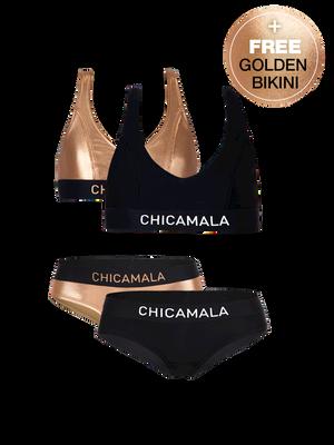 Meisjes Racerback Bikini Effen