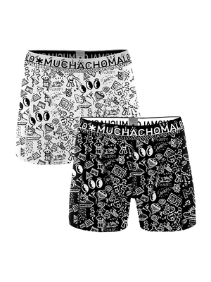 Heren 2-pack Boxershorts Iconic Art