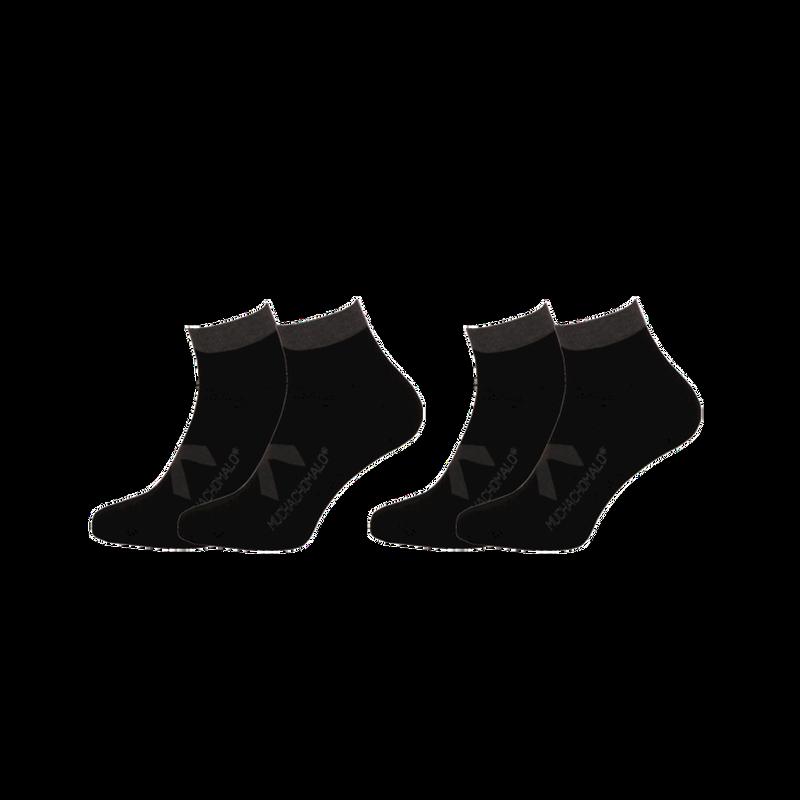 2-PACK SOLID SOCKS SHORT