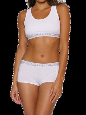 Women 2-pack Boxershort Solid 2