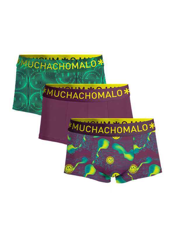 Men 3-pack trunks Acid House 1