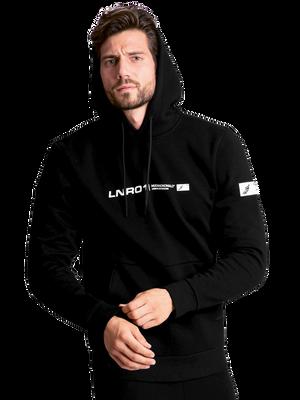 Men hoodie LNR black/white 2