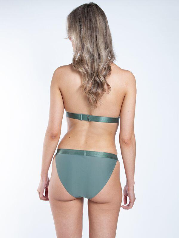 Ladies triangle bikini solid