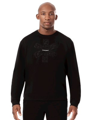 Heren sweater zwart