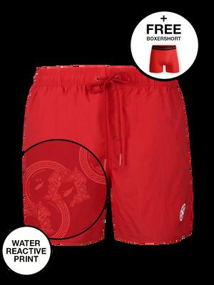 Jongens 1-pack swimshort effen + print