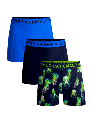 Heren 3-pack boxershorts Jellyfish