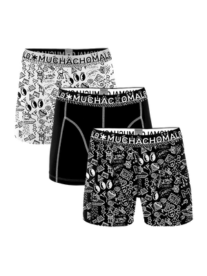 Heren 3-pack boxershorts Iconic Art