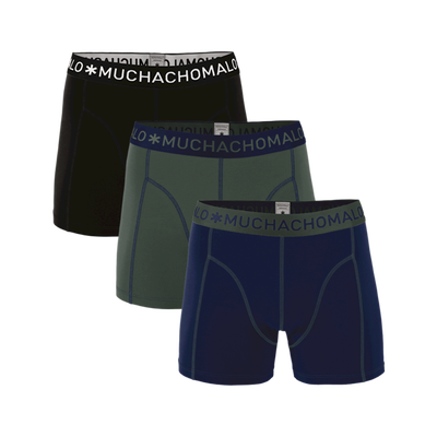 Men 3-pack boxer shorts solid