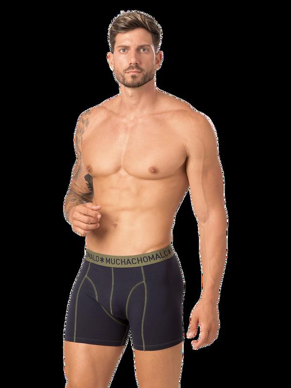 Men 2-pack boxer solid/solid 7