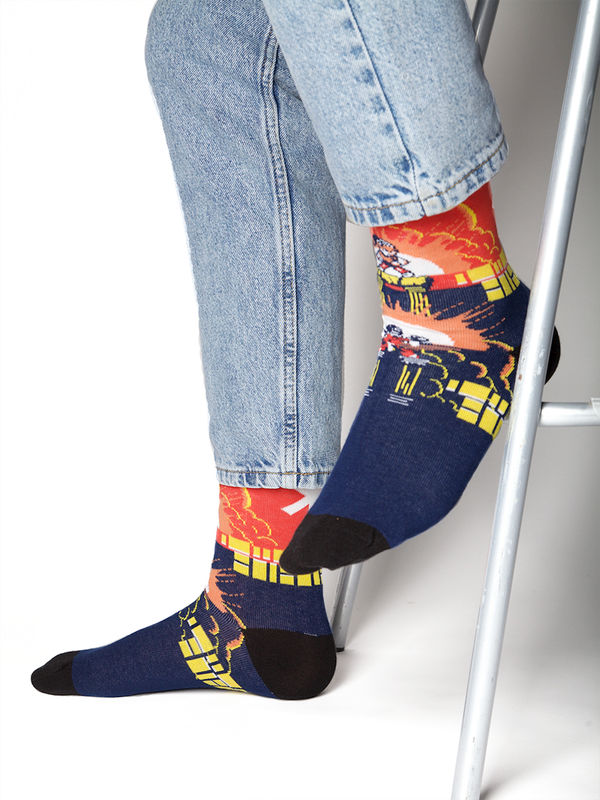 Men 1-pack socks Pattern SNIN