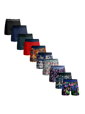 Heren 10-pack boxershorts print + effen