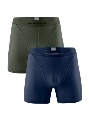 Men 2-pack boxer shorts solid