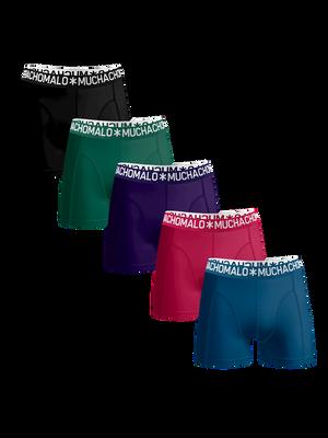 Men 5-pack boxer shorts solid