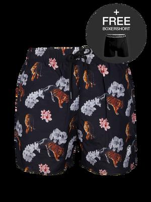 Heren 1-pack swimshort Tiger