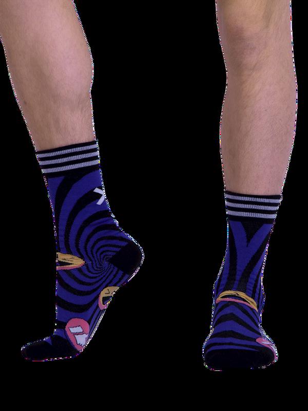 Men 1-pack socks Pattern SOCME 2