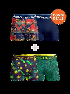 Boys 2-pack + 2-pack boxer shorts Super 16bit + Acid House
