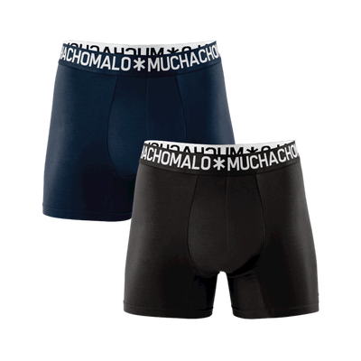 Men 2-pack boxer shorts solid