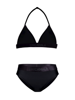 Girls triangle bikini solid